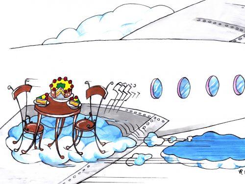 Volando verso l'Italia…Volando hacia Italia…
