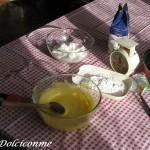 Composto uova, zucchero, farina, lievito