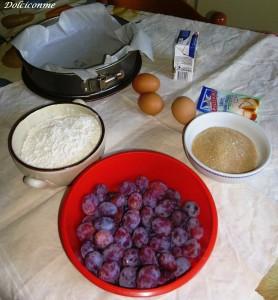 Ingredienti torta alla frutta