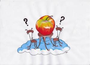 Tavolino con mela 002