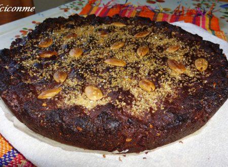 La Torta di mandorle al cioccolato…La Torta de almendras con chocolate