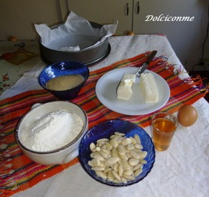 Ingredienti Torta di mandorle