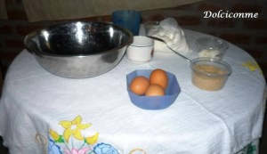 Ingredientes para la masa