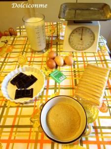Ingredienti Budino al cioccolato