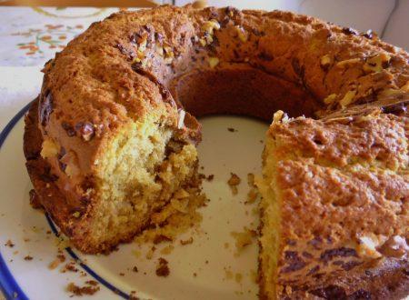 Dolci per la colazione: la Ciambella casalinga. Dulces para el dasayuno: la Rosca casera.