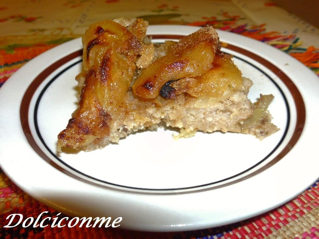 Fetta di Torta di pane e mele