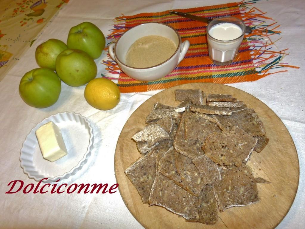 Ingredienti Torta di pane e mele