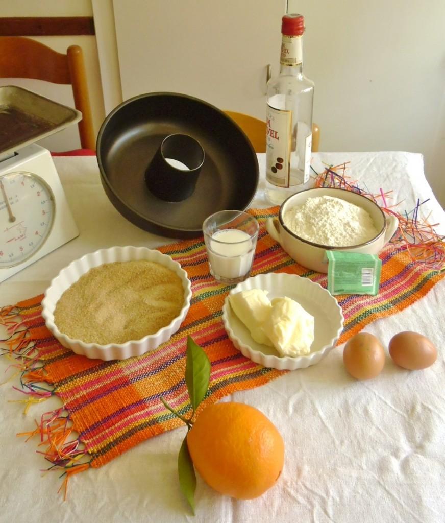 Ingredienti ciambella casalinga