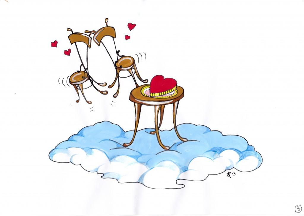 Tavolino virtuale degli innamorati