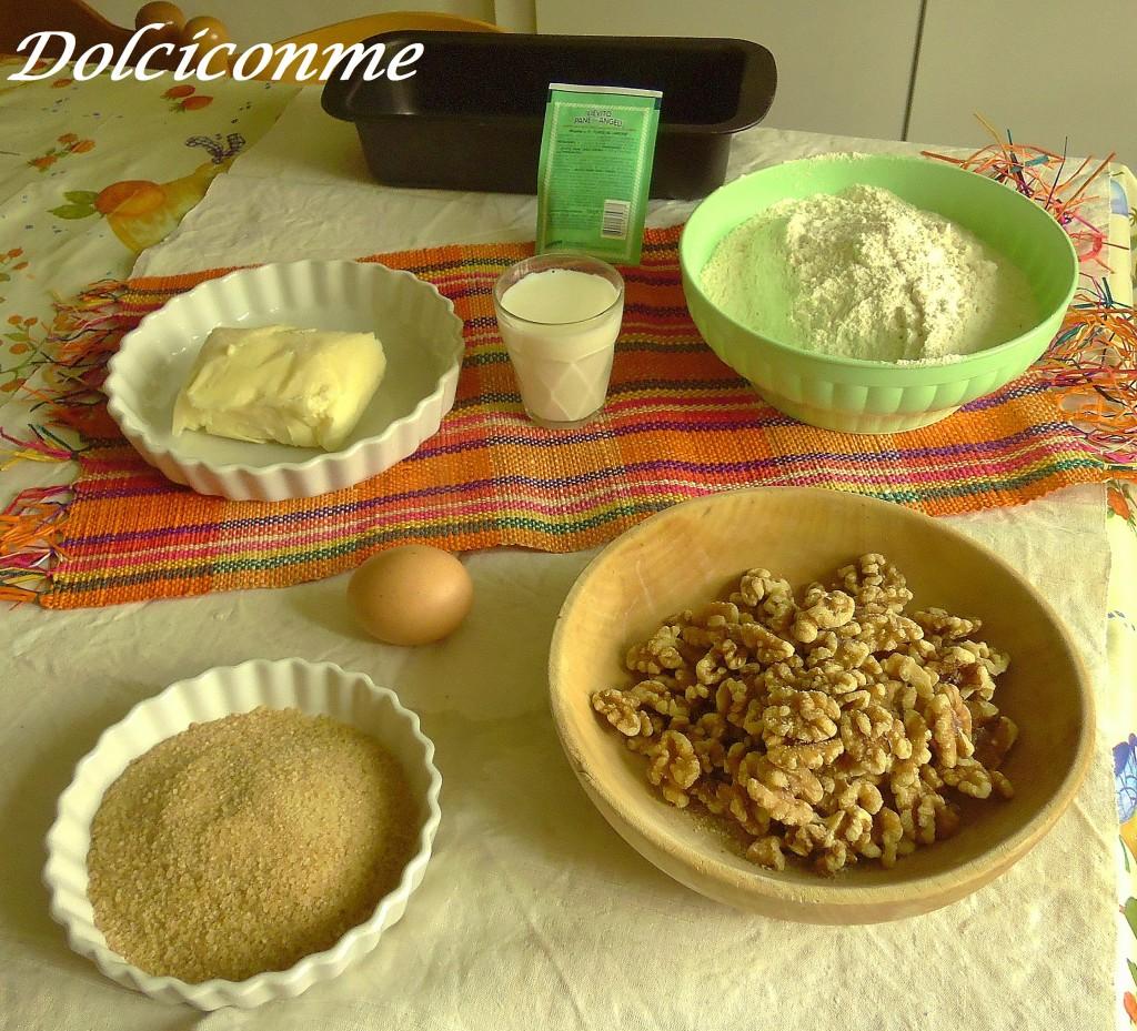 Ingredienti Pane con le noci