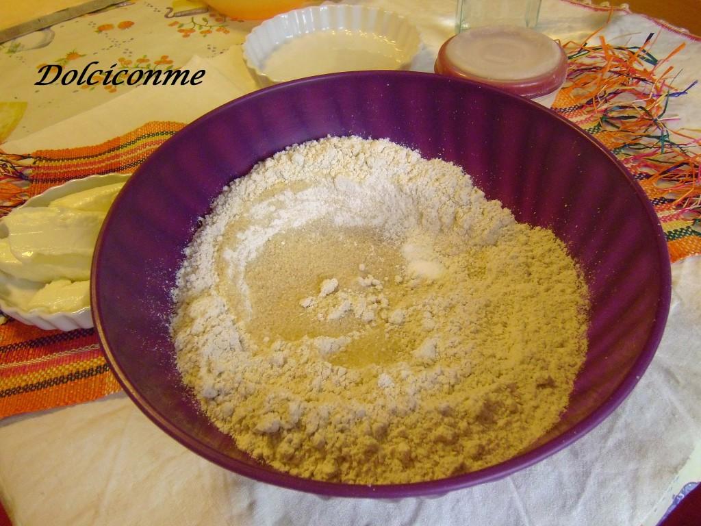 Farina d'avena, zucchero e sale