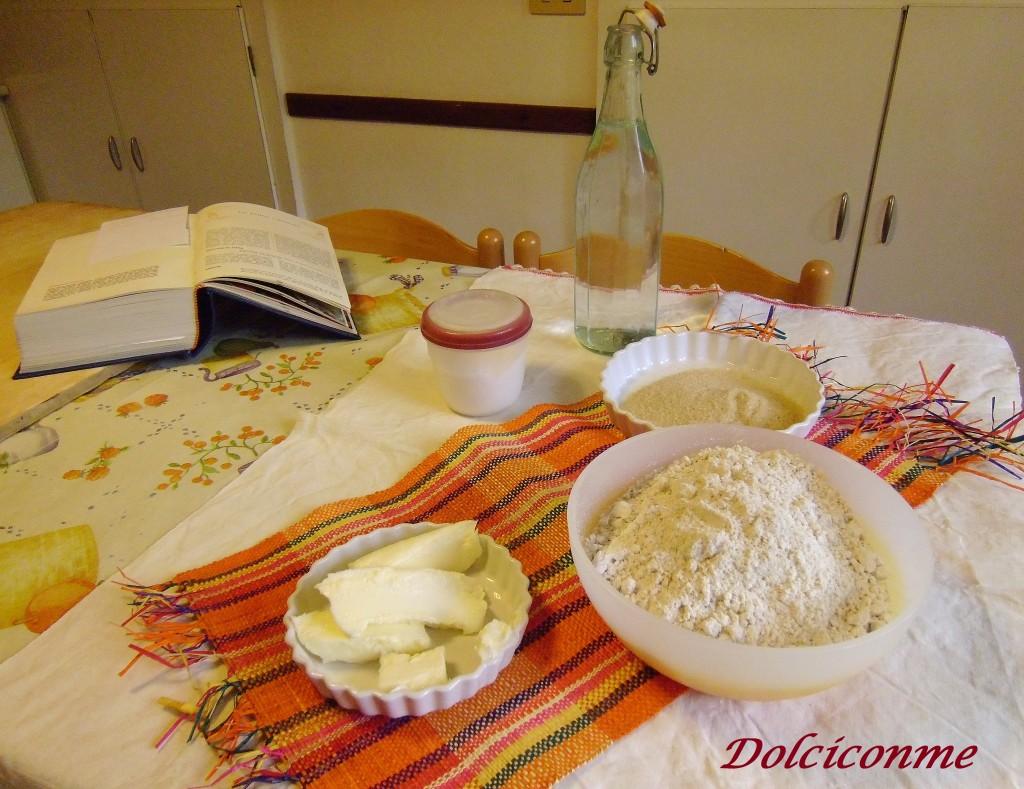 Ingredienti biscottini di avena