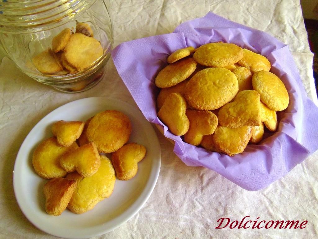 I Biscotti casalinghi con polenta