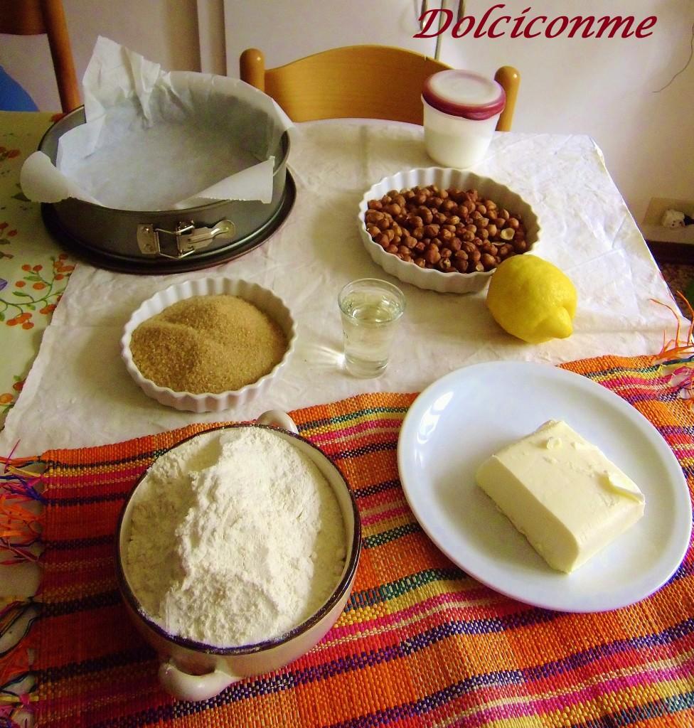 Ingredienti Torta di nocciole