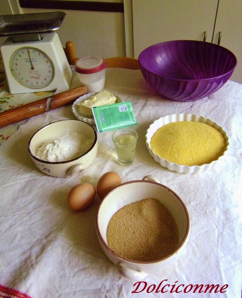 Ingredienti dei biscotti casalinghi