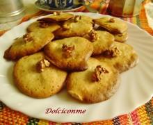 Dolci per la colazione: i Biscotti alle noci. Dulces para el desayuno: las Galletas con nueces