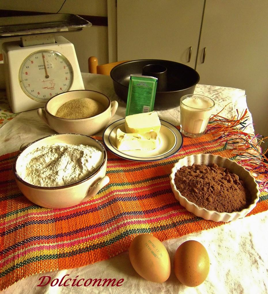 Ingredienti Ciambella al cioccolato