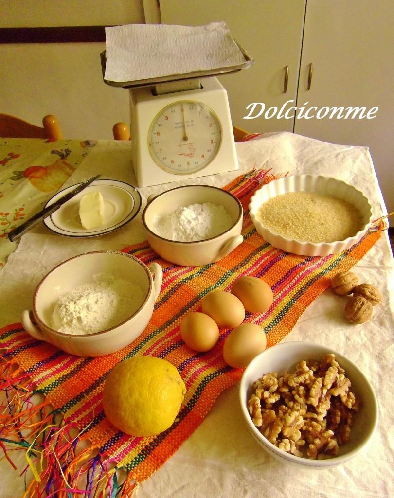 Ingredienti Biscotti alle noci