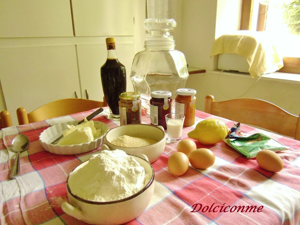 Ingredienti biscotti di pasta frolla