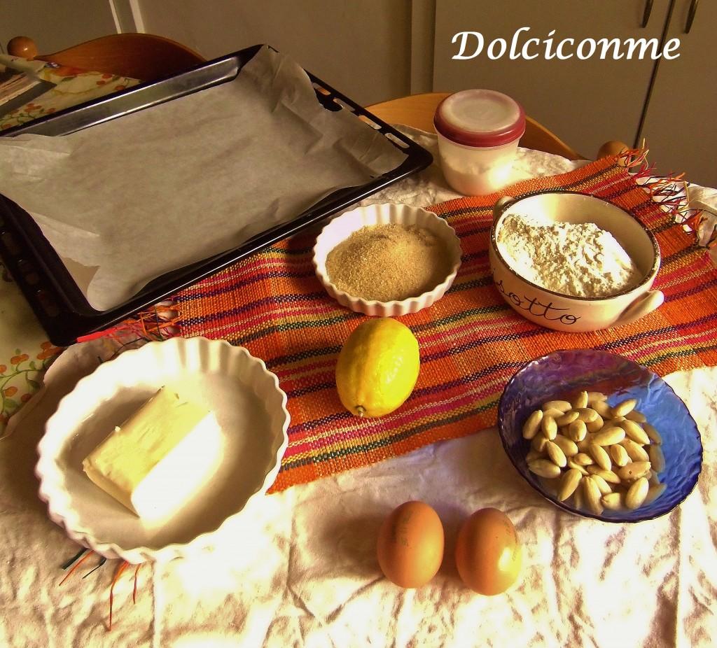 Ingredienti Ciambelle alle mandorle