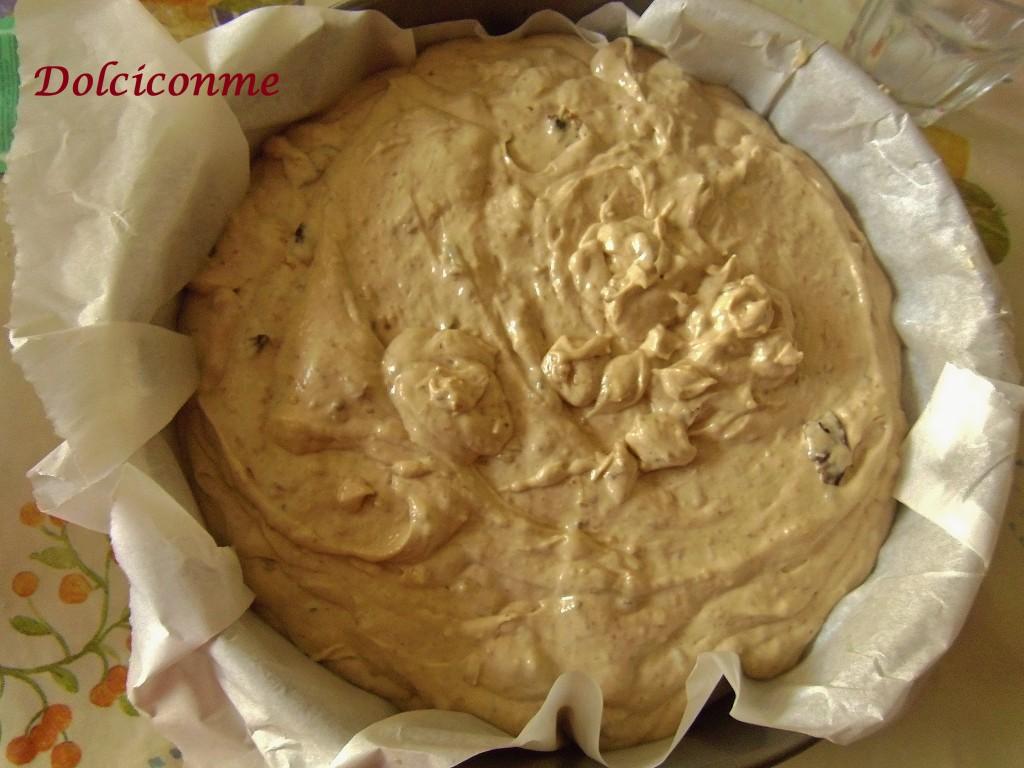 Impasto Torta di prugne secche e noci