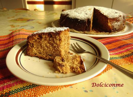 La Torta di prugne secche e noci. La Torta de ciruelas pasas y nueces.