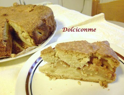 La Torta di mele quattro quarti. La Torta de manzanas cuatro cuartos.