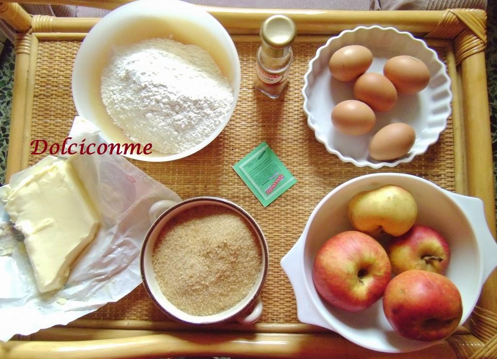 Ingredienti Torta di mele quattro quarti