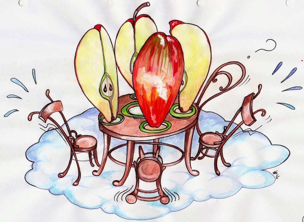 Torta di mele quattro quarti