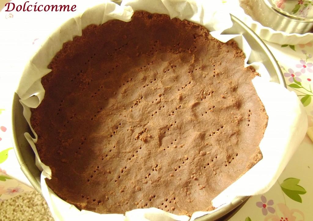 Base di pastafrolla al cioccolato