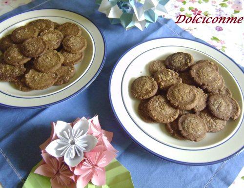 Dolci al risparmio: Biscotti al cacao e al caffè. Dulces de ahorro: Galletas con cacao y café.