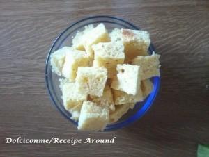 Torta tagliata in quadratini