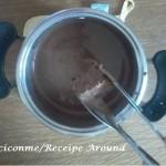 Quadratino imbevuto di cioccolato