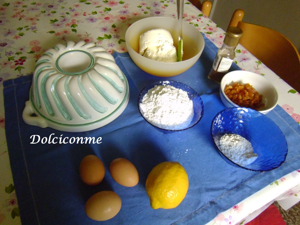 Ingredienti Budino di ricotta