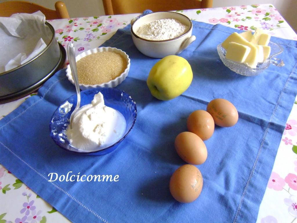 Ingredienti Torta di mele e ricotta