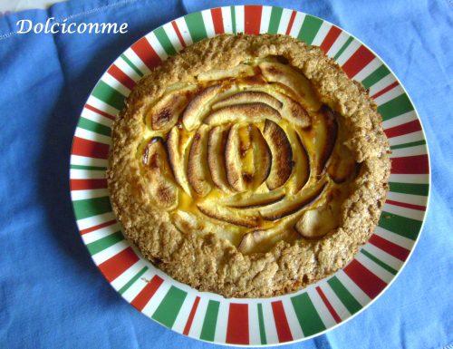 La Torta di mele e ricotta. La Torta de manzana y queso ricota.