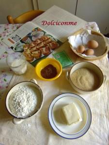 Ingredienti Dolce bianco e nero