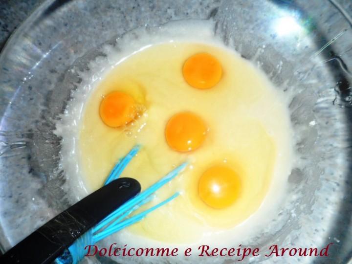 Marmorkuchen - aggiunta delle uova