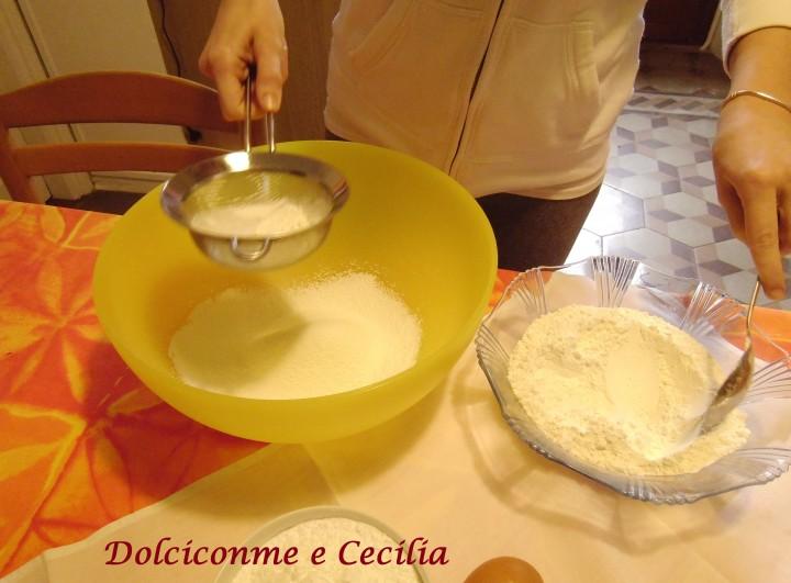 Setaccio farina, fecola e zucchero al velo