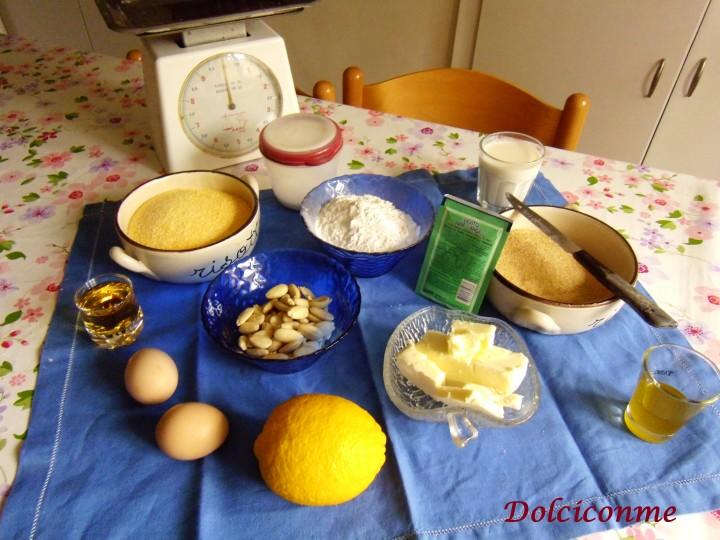 Ingredienti Biscotto giallo mandorlato