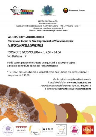 Workshop a Torino 18 giugno 2016