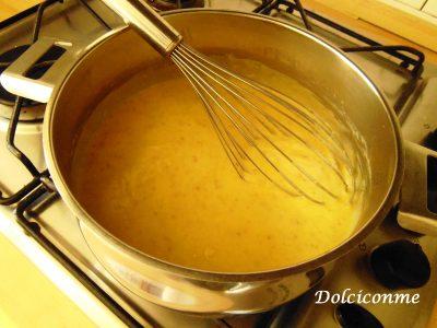 Crema di amaretti in cottura