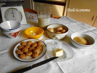 Ingredienti Crema di amaretti